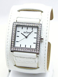 AXCENT OF SCANDINAVIA / LADIE'S WATCH / X1774C-13VS / BROADBAND / RHINESTONE×WHITE LEATHER