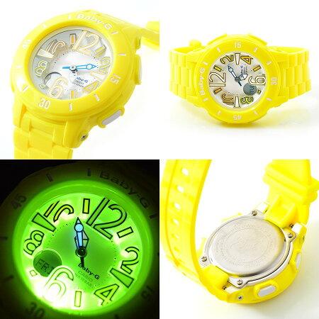 【到着後レビューを書いて送料無料】【2年保証】BABY-G(ベビージー)CASIO(カシオ)腕時計大人気ネオンマリンシリーズ!超キュートなデザイン&遊び心満点のわくわくするような楽しい機能が満載「BGA-170-9B」が登場!イエロー黄色【あす楽人気激安防水プレゼント】