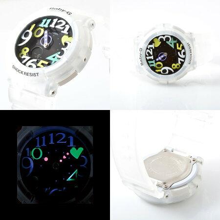 【到着後レビューを書いて送料無料】【2年保証】BABY-G(ベビージー)CASIO(カシオ)腕時計ネオンイルミネーター搭載!超キュートなデザイン&遊び心満点のわくわくするような楽しい機能が満載「BGA-131-7B4/BGA131-7B4」が登場!ネオンダイアル白マルチカラー【あす楽】