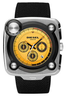 DIESEL / MEN'S WATCH / DZ4217 / STUDIO MIXER / SQUARE FACE / CAMBUS BELT / BRIGHT YELLOW×POLISH SILVER