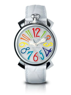 GaGa MILANO ( ガガミラノ ) MANUALE ( マニュアーレ ) mens and Womens watches (men and women combined )5020.1(40MM)CROCODILE( crocodile) MOTHER OF PEARL×MULTICOLOR ( mother-of-Pearl x multi-color ) MADE IN ITALY