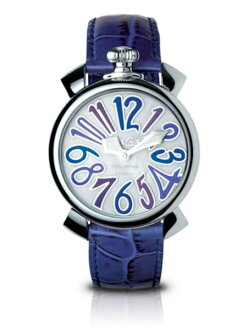 GaGa MILANO (ガガミラノ) MANUALE (マニュアーレ) men's / Lady's watch (man and woman combined use) 5020.3(40MM) CROCODILE( crocodile) MOTHER OF PEARL X BLUE MULTICOLOR( mother of pearl X blue multicolored) MADE IN ITALY