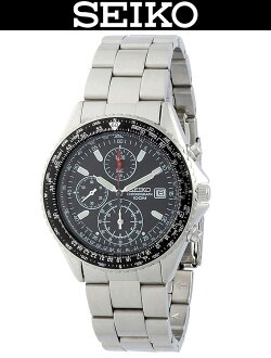 SEIKO / SND253PC / SND-253PC / PILOT CHRONOGRAPH / WR.100M / BLACK×POLISH SILVER / MADE IN JAPAN