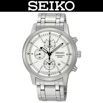SEIKO / MEN'S WATCH / SNDC25P1 / CHRONOGRAPH / WR.100M / STAINLESS / SILVER