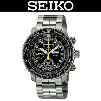 SEIKO / MEN'S WATCH / PILOT WATCH / SNA411P1 / SNA-411P1 / CHRONOGRAPH / TACHYMETER / WR.200M / BLACK / JAPAN MOVEMENT