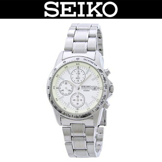 SEIKO (SEIKO) men's watch (overseas model) SND363PC/SND-363PC (chronograph) WR.100M (100M waterproofing) SILVER (silver)