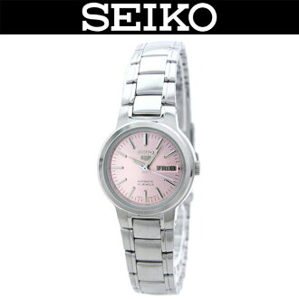 SEIKO 5 / LADY'S WATCH / SYME41K1 / SYME-41K1 / AUTOMATIC MOVEMENT / PINK X SILVER