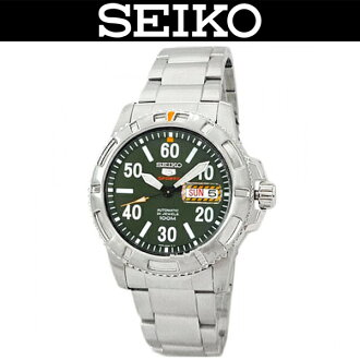 SEIKO 5 SPORTS / MEN'S WATCH / SRP215J1 / AUTOMATIC MOVEMENT / 100M WATER RESISTANT / STAINLESS BELT / SILVER BEZEL