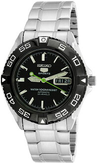 5 SEIKO SPORTS (SEIKO five sports) men's watch SNZB23J1/SNZB-23J1 silver black black