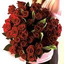 【送料無料】 赤バラ 花束 60本 フラワーギフト 【楽ギフ_メッセ】【RCP】