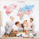 ウォールステッカー 飾り 【 トラベル世界地図 】 60×9...