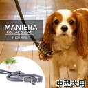 【あす楽】アドメイト [Add.Mate] 【特価品】Maniera マニエラ M 中型犬用 カラー&リード セット 4903588516993 #w-139184