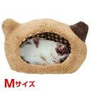【あす楽】スーパーキャット ぬくふかハウス猫型 M ブラウン×ブラウンチェック 4973640006328 #w-143571-00-00 [CTA]