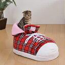 ボンビアルコン シューズクッション チェックレッド 犬猫用ハウスベッド 4977082796526 #w-143618-00-00[CTA]【あす楽】