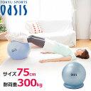 バランスボール 75cm 【耐荷重300kg】(レッスンDVD+空気入れ+固定リングがセット!) 【...