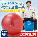 フィットネスクラブでも使われている本格的なバランスボール【期間限定特価】フィットネスクラブが作ったバランスボール(55cm)【税込・送料無料】