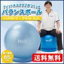 フィットネスクラブでも使われている本格的なバランスボールフィットネスクラブがつくったバランスボール65cm(アイスブルー)【税込・送料無料】