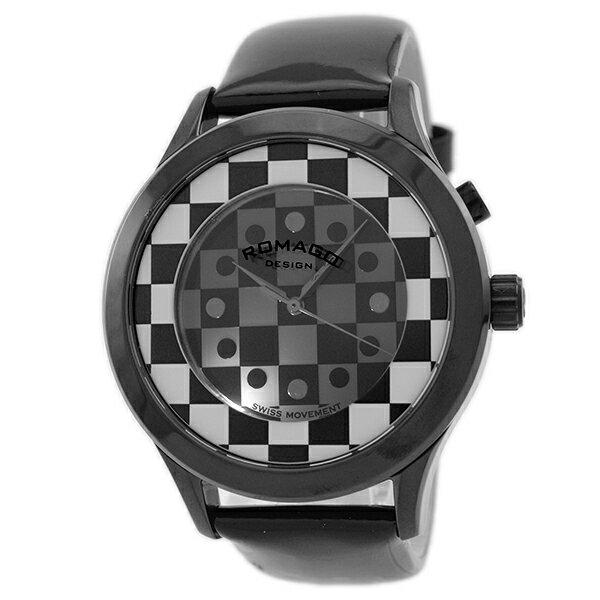 ロマゴデザイン ROMAGODESIGN FASHIONCODE ファッションコード RM052-0314ST-BKWH [国内正規品] メンズ&レディース 腕時計 時計 [送料無料][ギフト用ラッピング袋付][P_10]【中古】