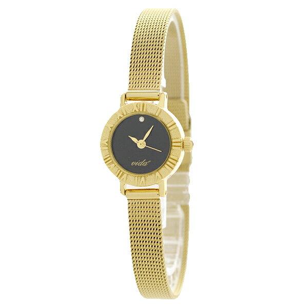 【ポイント11倍】ヴィーダプラス VIDA+  V-005GD-BK [国内正規品] レディース 腕時計 時計 [腕時計ケア用品 マルチクロス付][ギフト用ラッピング袋付]