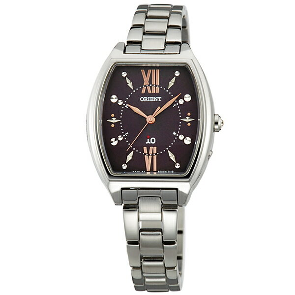 オリエント ORIENT イオ コスチュームジュエリー ソーラー電波 ダークブラウン WI0171SD [正規品] レディース 腕時計 時計 [10年保証付][ギフト用ラッピング袋付]