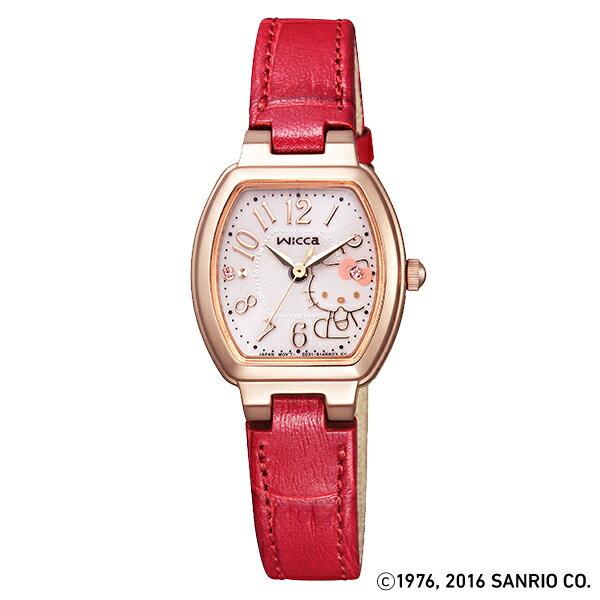 シチズン ウィッカ wicca wicca×ハローキティコラボシリーズ ハローキティスペシャルBOX付き ソーラー KP2-060-90 [正規品] レディース 腕時計 時計 [10年保証付][ウィッカオリジナルタオル付][ギフト用ラッピング袋付][オリジナル時計ケース付]