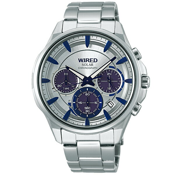 セイコー ワイアード WIRED ソーラー 100m防水 AGAD069 [国内正規品] メンズ 腕時計 時計 [10年長期保証付][送料無料][腕時計ケア用品 マルチクロス付][ギフト用ラッピング袋付]