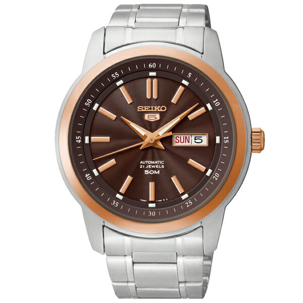 【新作】セイコー 逆輸入モデル SEIKO 機械式(自動巻き) SNKM90KC(SNKM90K1) [国内正規品] メンズ 腕時計 時計 [10年長期保証付][送料無料][腕時計ケア用品 マルチクロス付][ギフト用ラッピング袋付]
