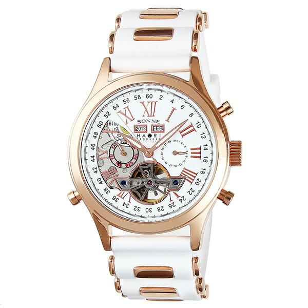 ゾンネ SONNE ゾンネ×ハオリ 岩城滉一 コラボモデル H003PG-WH ニクソン [正規品] NIXON メンズ ディーゼル 腕時計 時計:腕時計本舗 [ギフト用ラッピング袋付][メッセージカード付]