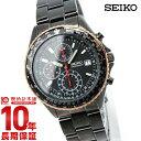 セイコー SEIKO 先行限定販売モデル パイロット クロノグラフ ブラック 100m防水 SZER034 メンズ 腕時計 時計