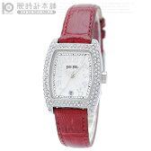 フォリフォリ FolliFollie ストーン S922ZI SLV/RED レディース 腕時計 時計