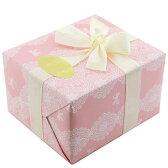【選べるリボン16色♪】クロッシェレースピンク × リボン16色 [ギフトラッピング No.9 Crocheted Lace Pink]プレゼント 高級ラッピング ギフト包装 #wrp009
