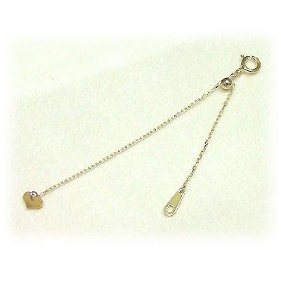 ネックレス チェーン お手持ちのネックレスに足せます!ネックレスのチェーンの長さが長くなると、こんなに嬉しい♪K10イエローゴールド 10cmアジャスターネコポス 誕生日 プレゼント 10K 10金 YG K10