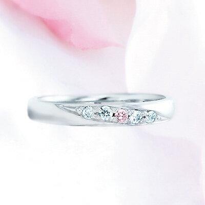 ピンクドルフィン結婚指輪 2−Lady's