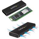StarTech USB 3.0接続M.2 SATA SSDケース UASP対応 M.2 (NGFF/ B-Key)対応ソリッドステートドライブケース USBバスパワー対応 SM2NGFFMBU33