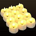 即納キャンドル LED 眠りキャンドルライト PChero LED蝋燭 夜キャンプ 安全 癒し タイマー 蝋燭灯 リアル感 電気蝋燭 超リアルなLED キャンドルライト 省エネ・長持ち・便利 12個 心地良い灯り 暖かい黄色い色