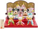 即納【東京ディズニーリゾート限定】ミッキーとミニーのひな人形(3人官女) お雛様 おひな様 雛飾り 雛人形