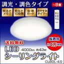 【スーパーSALE期間ポイント10倍】 【訳あり・箱キズあり】【送料無料】アイリスオーヤマ LEDシーリングライト ~8畳 調光・調色タイプ CL8DL-4.0 【10P03Dec16】