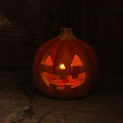 【ハロウィン】LED ジャックオーランタン(HW373)の写真