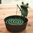 カエルの蚊取り線香ホルダー【釣り】(4767)