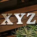 【在庫限り処分品】ブリキ アルファベット オブジェ O〜Z,&