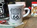 【最大60%OFFタイムセール開催中】アメリカン雑貨★ROUTE66 グッズ マグカップ キッチン グラス ルート66(WHITE)-HS0020