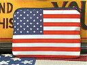 【最大60%OFFタイムセール開催中】アメリカン雑貨 コットンポーチ お化粧ポーチ 旅行用 小物入れ L USA-AT0021