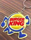 アメリカン雑貨 ラバーキーホルダー キーチェーン BURGER KING バーガーキング-AT0137