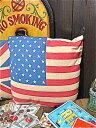 アメリカン雑貨★フラッグ レトロ クッション USA 星条旗-AK0003