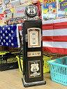 【タイムセール開催中】ROUTE66 グッズ アメリカン雑貨 ルート66 ガスポンプ型 レトロ CDラック DVDラック 本棚 ショーケースL 店舗 ガレージ ディスプレイ