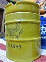 アメリカン雑貨 ドラム缶型 灰皿 アッシュトレイ ARMYAR0019
