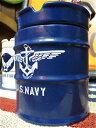 【最大60%OFFタイムセール開催中】アメリカン雑貨★ドラム缶型 灰皿 アッシュトレイ NAVYAR0021