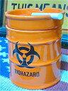 【タイムセール開催中】アメリカン雑貨 ドラム缶型 灰皿 アッシュトレイ BIOHAZARD-AR0022