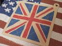 【最大70%OFF歳末大SALE開催中】アメリカン雑貨 UK ユニオンジャック グッズ ポットホルダー なべ敷き-AK0235