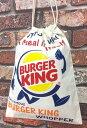アメリカン雑貨 コットン巾着 BURGER KING バーガーキング バッグ シューズケース 小物入れ ファッション-LJ0018